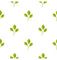 green cherry leaves pattern seamless vector image