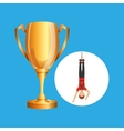 guy bungee jumper rope trophy sport design vector image vector image