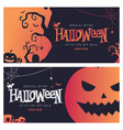 halloween big sale banner shopping vector image
