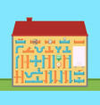 house with pipe set for pipeline engineering home vector image