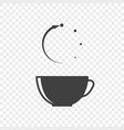 icon of a cup of tea with the abstract meaning of vector image vector image