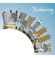 kaohsiung taiwan city skyline with gray buildings vector image vector image