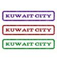 kuwait city watermark stamp vector image vector image
