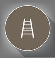 ladder sign white icon on vector image