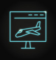 landing page icon in neon line style vector image