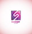 Letter S pink square logo purple vector image