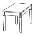 line drawing of table -simple line vector image vector image