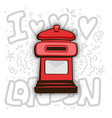 london post box english london post vector image