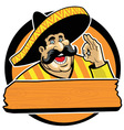 mexican with okay sign vector image vector image
