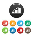 new chart icons set simple vector image vector image