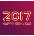 New year design neon figures vector image vector image