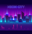 night city with neon glow vector image vector image