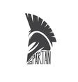 Old Vintage Antiques Spartan warrior design vector image
