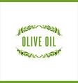 olive tree branch frame with fruit floral vector image