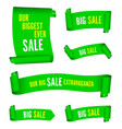 our big sale set of green banners vector image vector image