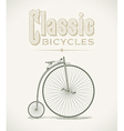 Penny-farthing bicycle vector image vector image