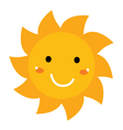Pretty smiling Sun clipart isolated on white vector image