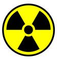 Radiation warning symbol icon vector image