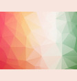 red white green triangles background vector image vector image