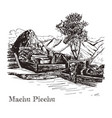 ruin of ancient civilization machu picchu vector image vector image