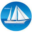 sailing luxury yacht vector image