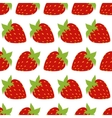 seamless of red strawberries vector image