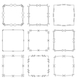 Set of hand drawn decorative square frames and vector image vector image