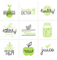 set of logo design elements and badges vector image vector image