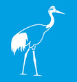 stork icon white vector image vector image