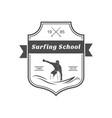 surfing school logotype vector image vector image