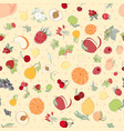 the seamless fruit pattern vector image vector image