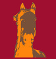 three color horses - each of them vector image