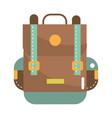 travel backpack cartoon vector image