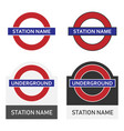 underground sign in england vector image