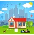 Urban home concept vector image vector image