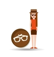 vacation woman sun glasses summer vector image vector image