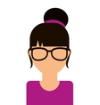 young woman isolated icon design vector image