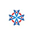 circle shape geometry logo vector image