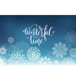 wonderful time hand lettering inscription on vector image