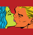 female alien and male mutant kiss love couple vector image