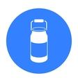 Milk cans icon black Single bio eco organic vector image