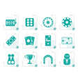 stylized gambling and casino icons vector image