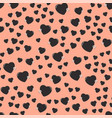 simple heart sharp seamless pattern color vector image