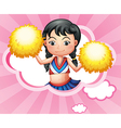 A cloud with a cheerleader vector image vector image