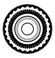 a set of round frames in a monochrome style vector image vector image