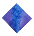 abstract blue and purple square watercolor banner vector image vector image