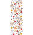 Abstract celebration vertical seamless pattern vector image vector image