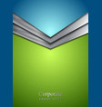 Abstract corporate modern background with arrow vector image vector image