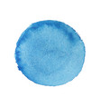 abstract watercolor blue round background vector image vector image