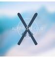 Alpine ski club logo vector image vector image